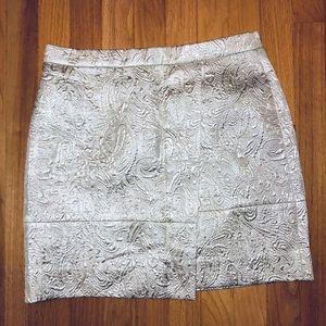 Gold-Silver Jacquard Pattern Mini-Skirt